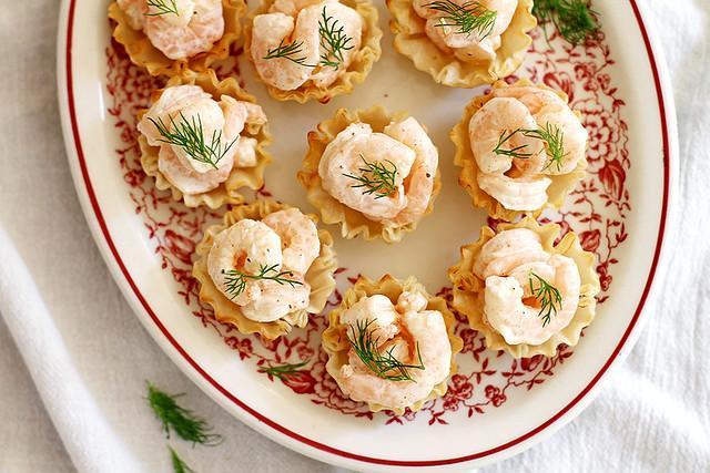 Easy Shrimp Salad Bites | girlversusdough.com @girlversusdough