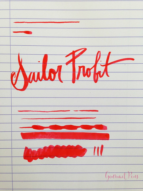 Review Sailor Profit Calligraphy Brush Pen @couronneducomte 6