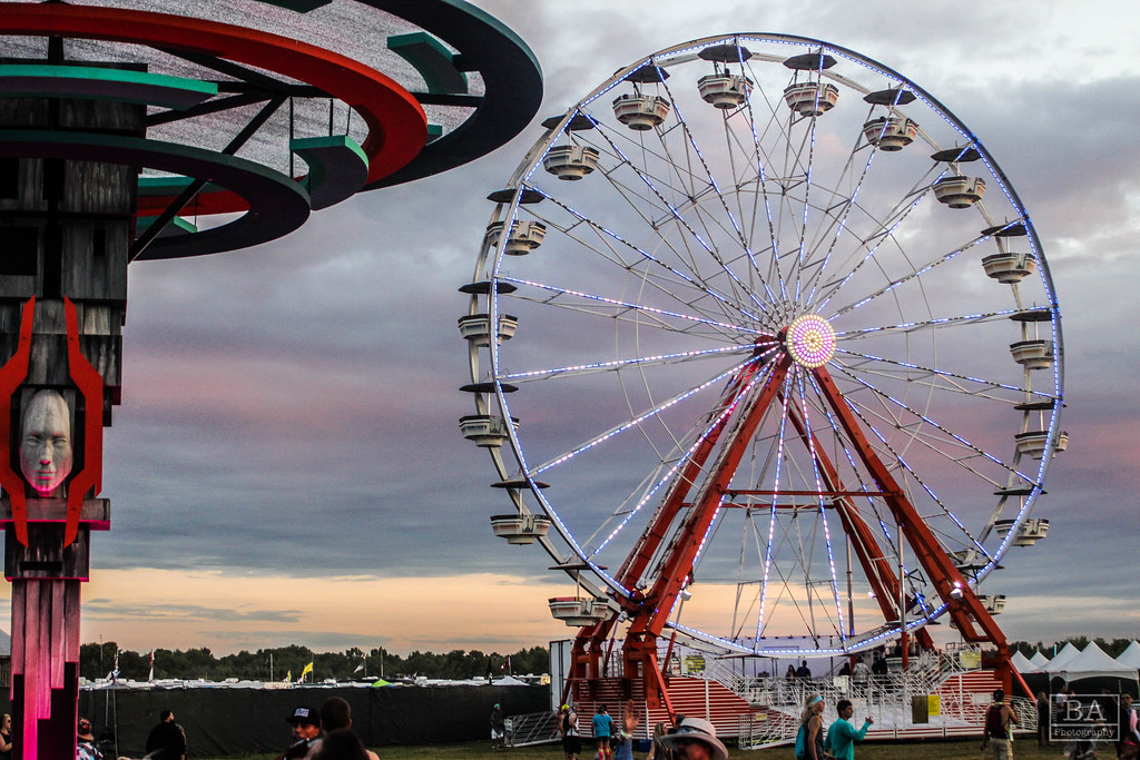 Electric Face and Ferris Wheel