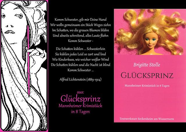 Regionalkrimi Mannheim psychologischer Roman Schwesternkonflikt Glücksprinz Mannheimer Krimistück in acht Tagen Brigitte Stolle