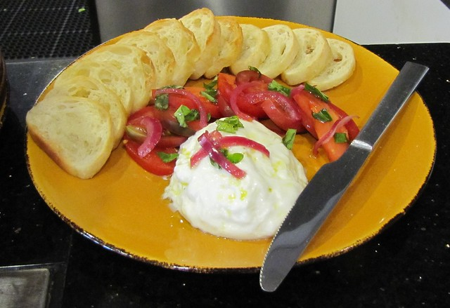 Fresh Burrata and Tomatoes at TusCA Ristorante