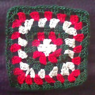 Granny Square #2 (FO); AKA Welsh Granny Coaster