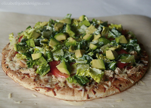 Avocado Lettuce Pizza Crust