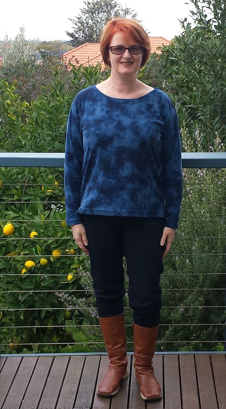 Liesl + Co Maritime top with full length sleeves