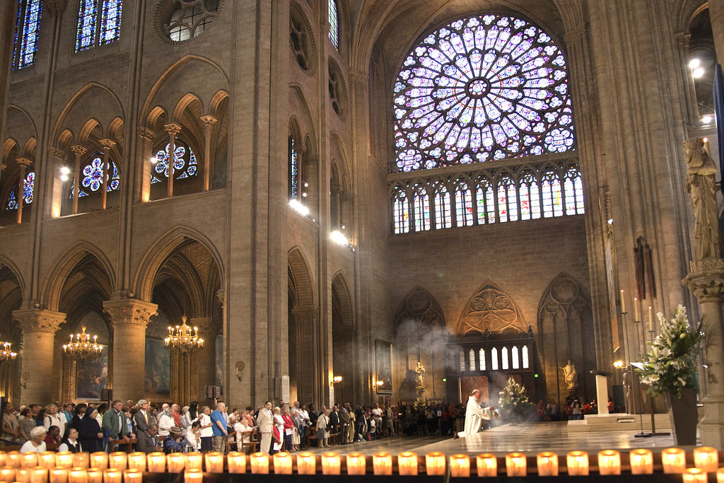 inside notre dame sunday mass at notre dame cathedral