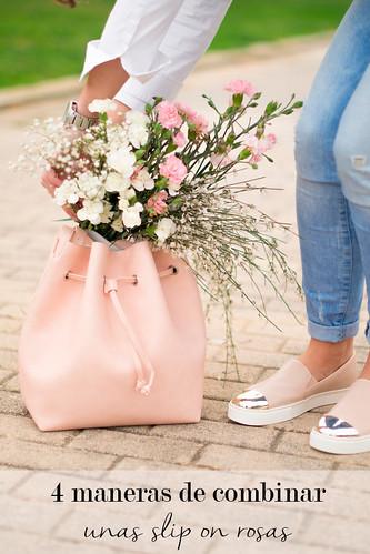4 maneras de combinar unas slip on rosas