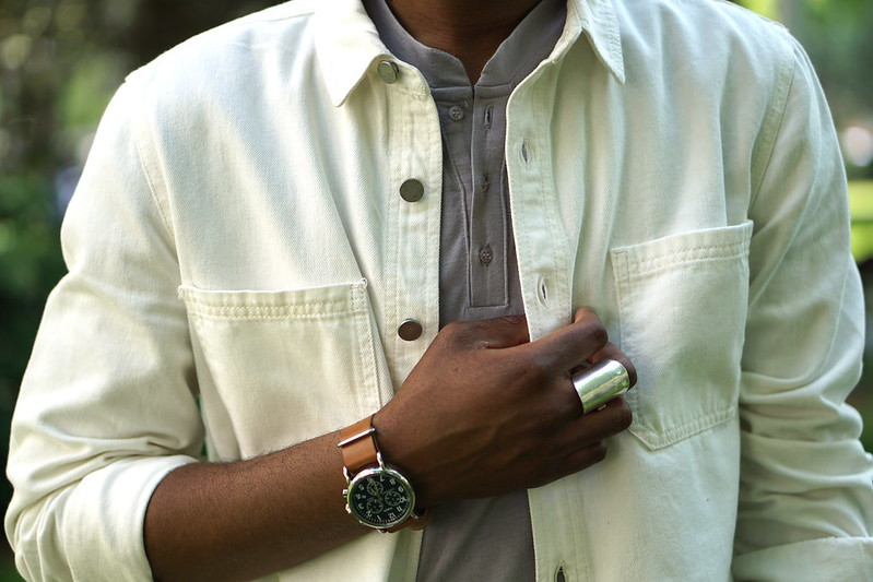 White Denim Shirt - Summer Layering For Men