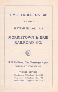 Morristown and Erie 1925 Cover