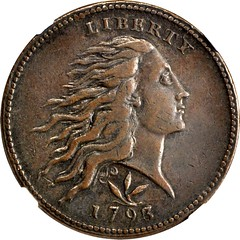1793 Space cent obverse