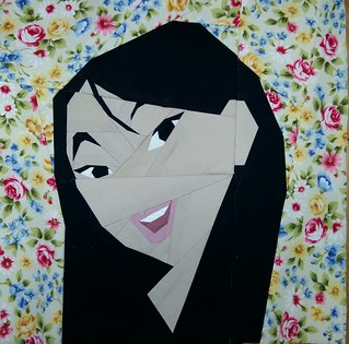 Mulan. Paper pieced. Fandom in Stitches.