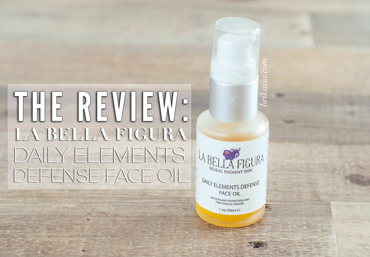 La Bella Figura Daily Elements Defense Face Oil Review, best facial oils for combination skin, organic facial oil review, best green beauty brand