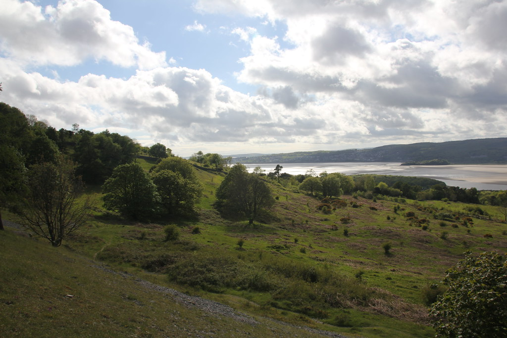 silverdale, lancashire, far arnside, arnside point, new barns, grubbins wood, arnside. arnside knott