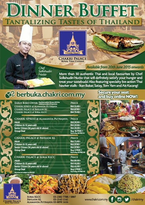 Ramadhan Buffet Imperial Chakri Palace, KLCC - Best Thai Food Restaurant