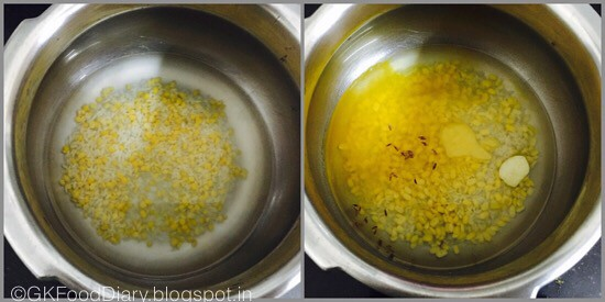 Moong dal khichadi for babies-step 1
