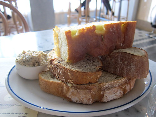 Homemade breads with tuna pate