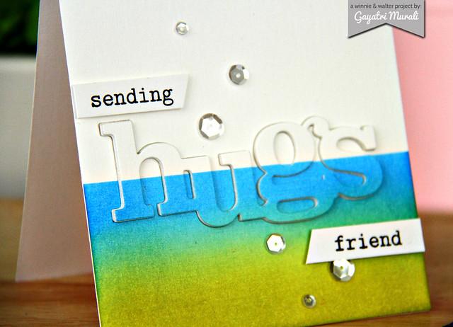 Hugs card closeup