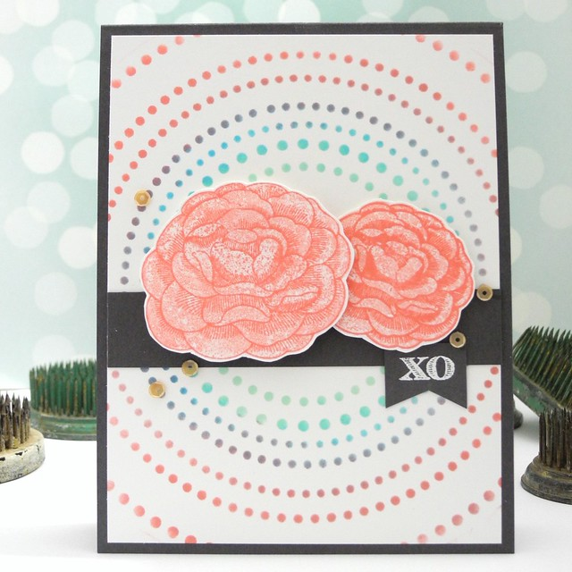 Floral XO by Jennifer Ingle for the Simon Says Stamp Wednesday Challenge Design Team #simonsaysstamp #justjingle #clearlybesotted #stencil #diy #cards