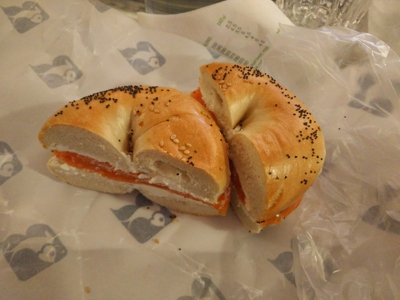 Smoked Salmon & cream cheese bagel from Russ & Daughters NYC | packmeto.com