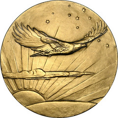 Lindbergh Congressional Gold Medal reverse