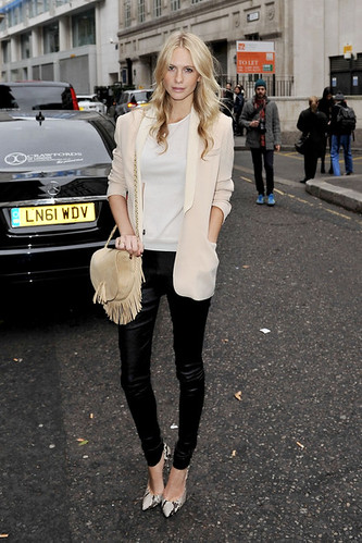 Poppy Delevingne Leather Pants