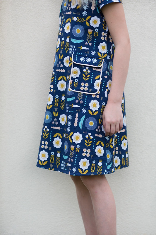 burda style a line retro dress no 136