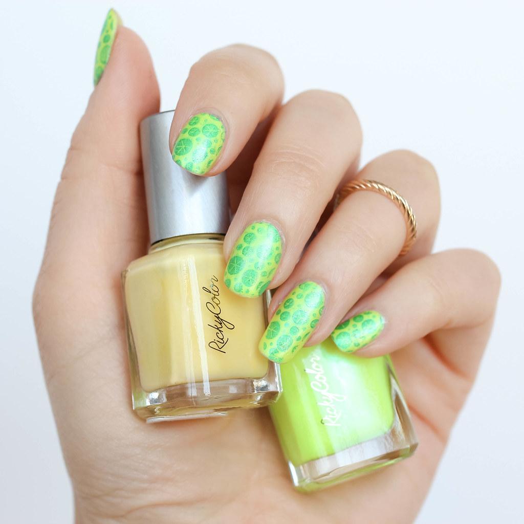 Neon Lemon Lime Nail Art | National Tequila Margarita Day … | Flickr
