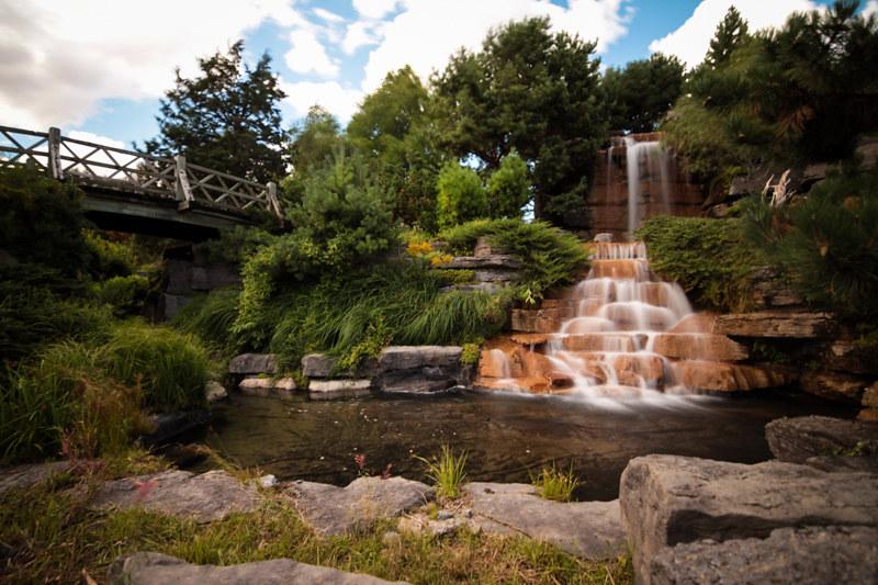 wasserfall botanischer garten montreal