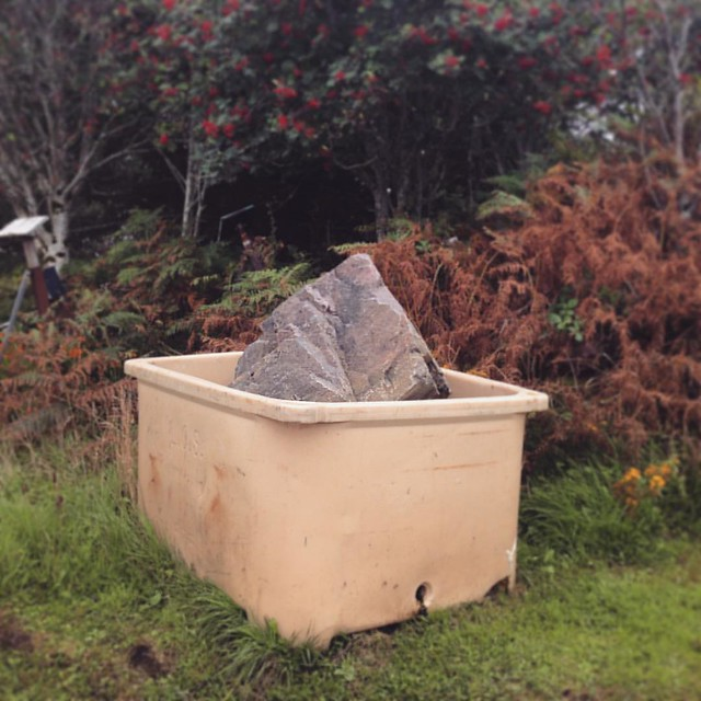 Naughty rocks get out in the bucket of shame.  Rusty boat  Arisaig, Inner Hebrides  #innerhebrides #Scotland #scottishscenery #Scottishhighlands #arisaig