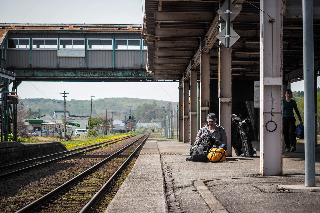 At Kuromatsunai Station, Hokkaido, Japan