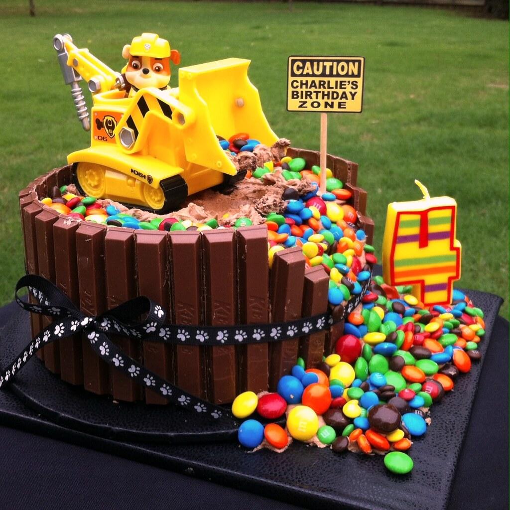 Birthday Cake Ideas Digger : PAW PATROL  RUBBLE  BIRTHDAY CAKE Charlie s 4th Birthday ...