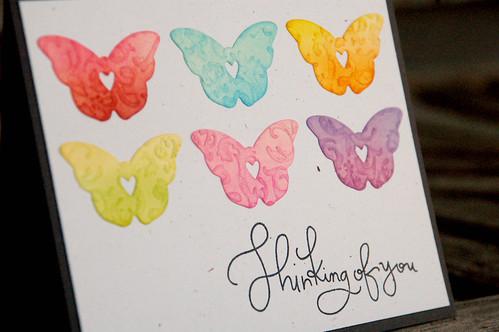 Jennifer Kinney_embossed rainbow butterflies02