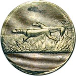 1863 Union Hunting Dogs Patriotic Civil War Token obverse