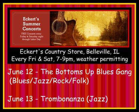 Eckert's Summer Concerts 6-12, 6-13-15
