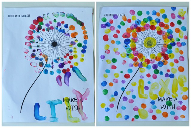 Thumbprint Dandelion Craft