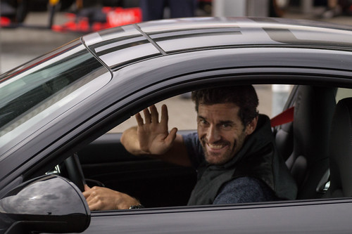 Mark Webber gives us a cheeky wave! | by davewilliams000