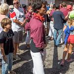 Santa Tecla 2014 - Actuació castellera de sortida d'ofici