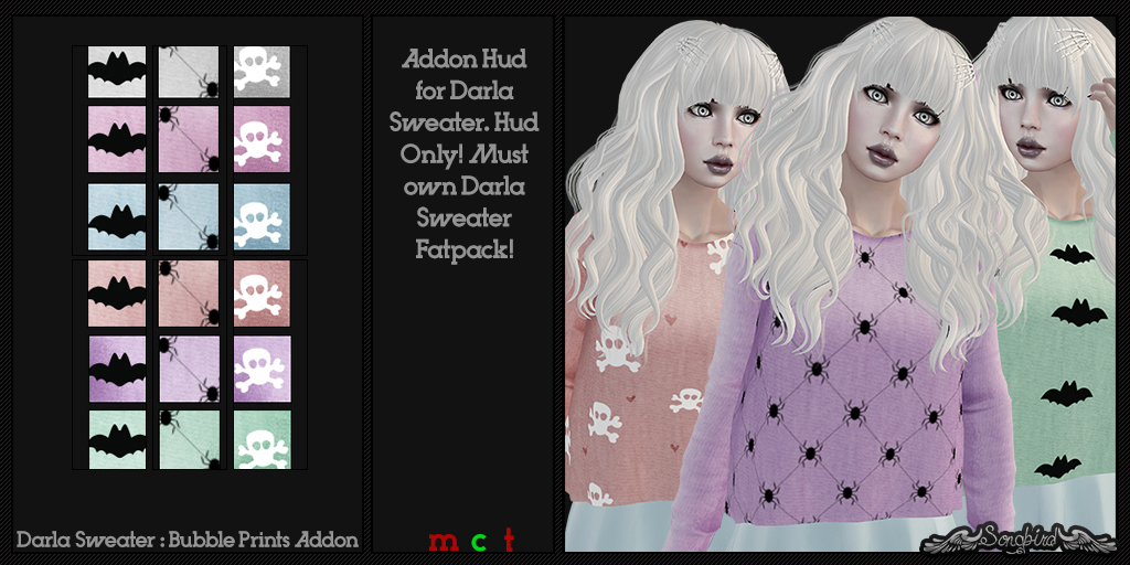 ~SongBird~ Darla Sweater : Bubble : Prints Addon