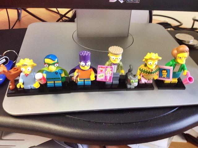 Lego Simpsons Series 2 on display at work.