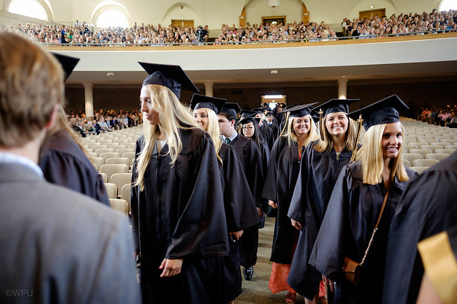Smiling students at Baccalaureate