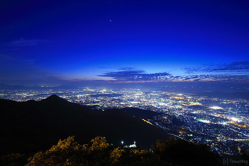 Mt.Sarakura at Night