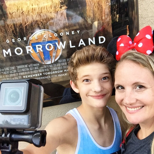 8am. Special screening of #Tomorrowland, thanks to @disneyparksblog. #Disney24 #CoolestSummer #gowithjonahbonah #disneyparksblog