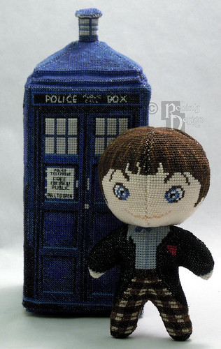 Doctor Who 3D cross stitch patterns by Robins Design - Patrick Troughton