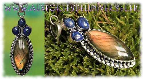 Aux Portes de l'Universel Obsidienne Bijoux sertis argent 925 sur la boutique ésotérique en ligne