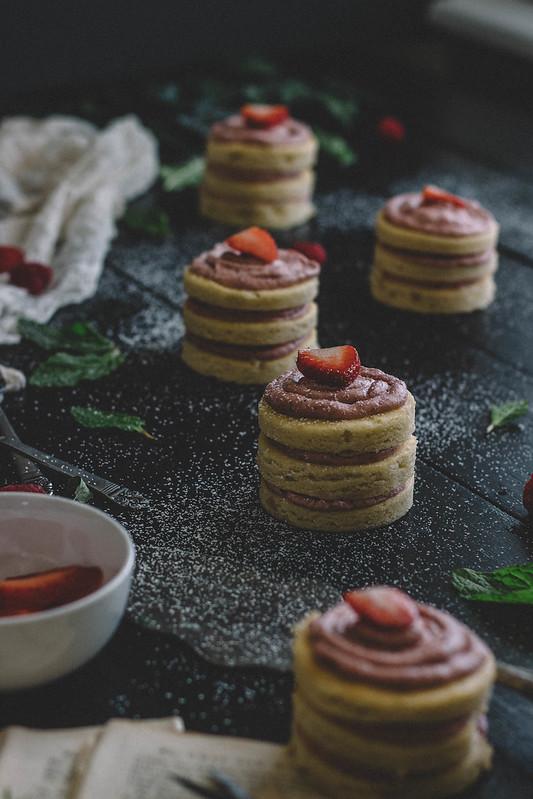 Rose Water Sheet Cake with Roasted Strawberry Buttercream    TermiNatetor Kitchen