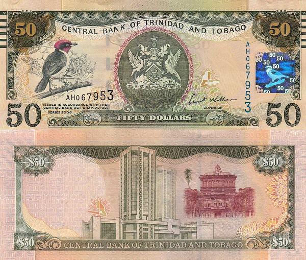 50 Dolárov Trinidad a Tobago 2006(2012), Pick 50