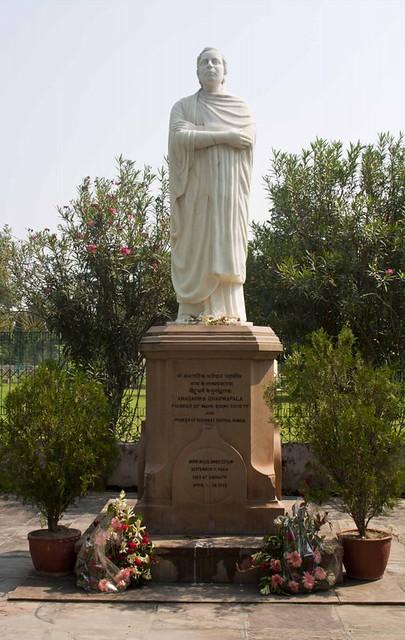 Statue of Anagarika Dharmapala - Mulghandha Kuti Vihara Temple - Sarnath, Uttar Pradesh