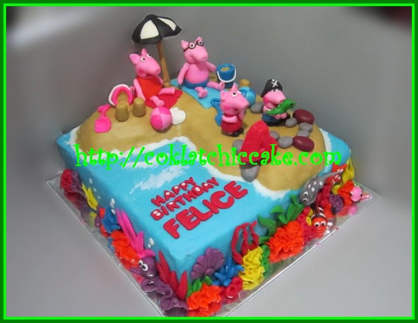 Cake Peppa the Pig – FELICE | Jual Kue Ulang Tahun