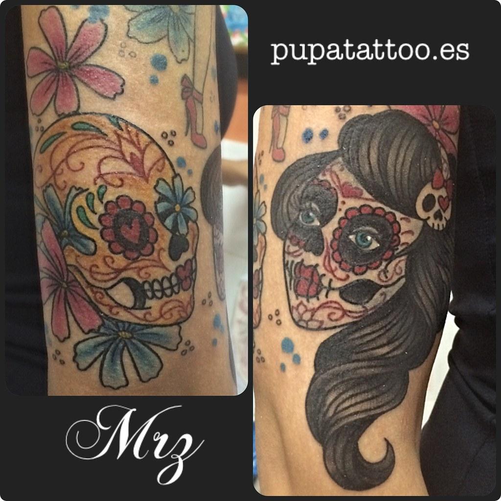 Tatuaje Pareja Calavera Pupa Tattoo Granada Pupa Tattoo Ar Flickr