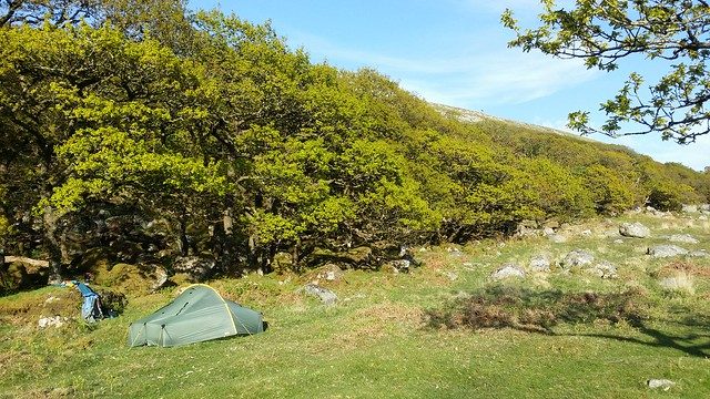 Camp at Black-a-Tor Copse #sh