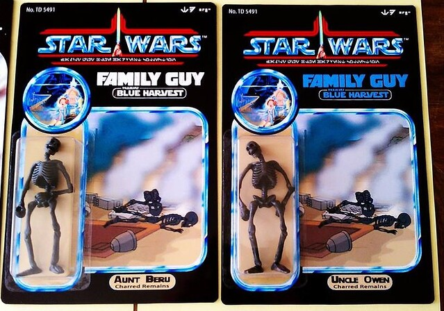 Custom Star Wars action figures by TD 5491 Phenix Customs - Charred Aunt Beru & Uncle Owen